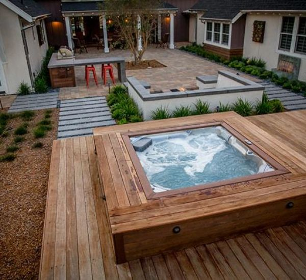 Backyard Jacuzzi Hot Tub Installation Saskatoon